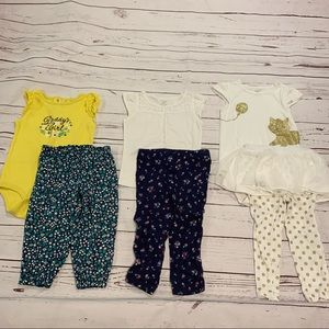 Lot of 3 sets of carters matching outfits